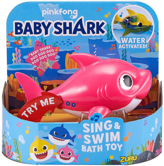 Baby Shark Robo Alive Sing & Swim Mommy Shark Robotic Bath Toy [Pink]