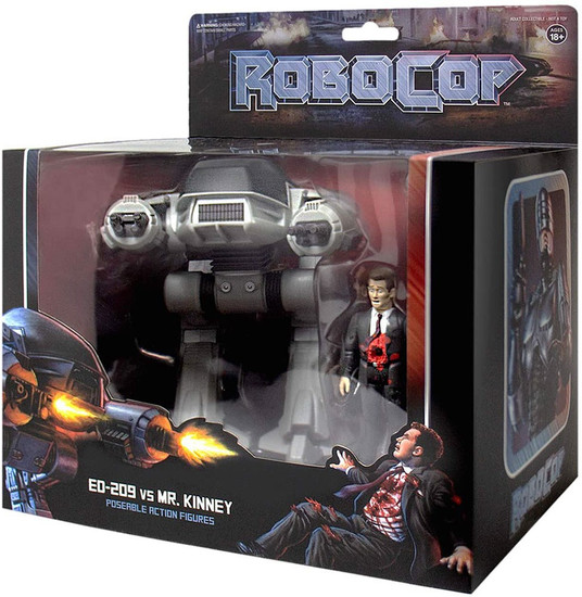 ReAction Robocop ED-209 & Dead Businessman Action Figure 2-Pack (Pre-Order ships February)