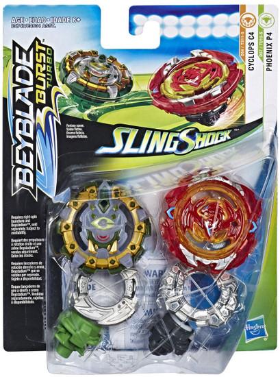 Beyblade Burst Slingshock Phoenix P4 & Cyclops C4 Dual Pack