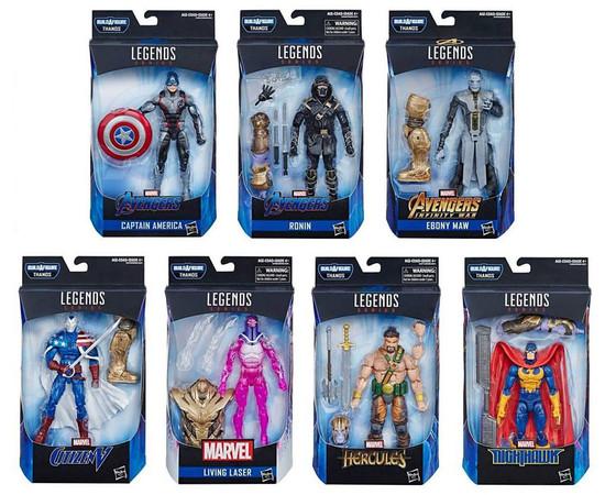 Avengers Endgame Marvel Legends Thanos Series Set of 7 Action Figures