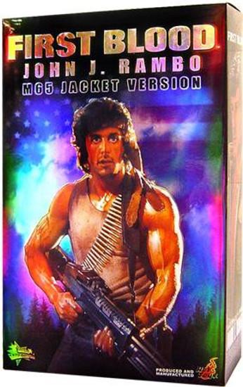 First Blood Movie Masterpiece John J. Rambo Action Figure [M65 Jacket, Damaged Package]