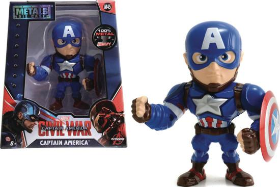 "Marvel Civil War Metals Captain America Action Figure [4""]"