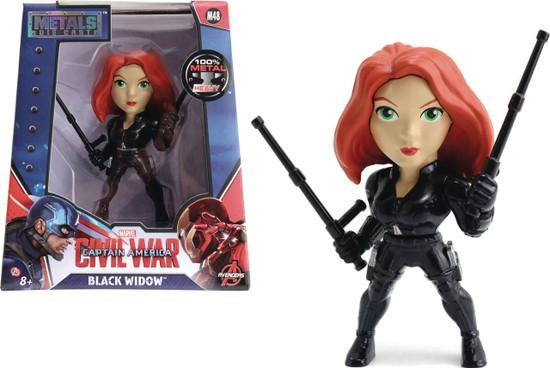 """Marvel Civil War Metals Black Widow Action Figure [4""""]"""