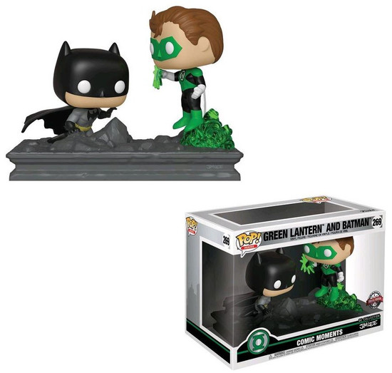 Funko DC Collection by Jim Lee POP! Heroes Green Lantern & Batman Exclusive Deluxe Vinyl Figure [Movie Moments]