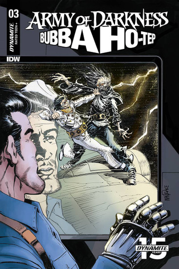 Dynamite Entertainment Army of Darkness Vs. Bubba Hotep #3 Comic Book [Tom Mandrake Cover B]