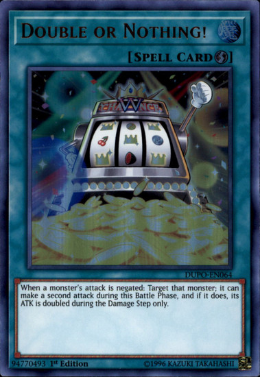 YuGiOh Duel Power Ultra Rare Double or Nothing! DUPO-EN064