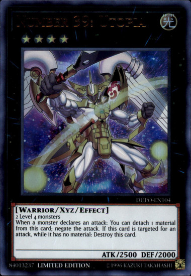 YuGiOh Duel Power Ultra Rare Number 39: Utopia DUPO-EN104