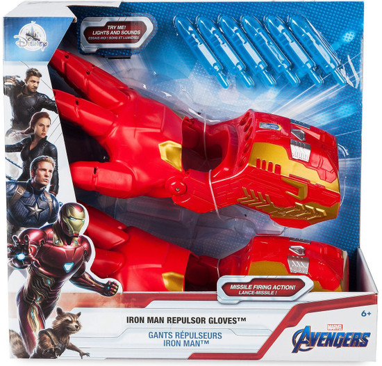 Disney Marvel Avengers Iron Man Repulsor Gloves Exclusive Roleplay Toy [2019]