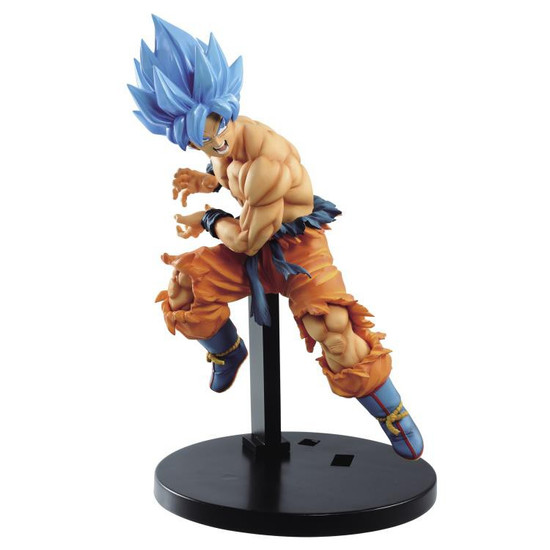 Dragon Ball Super: Broly Super Tag Fighters Super Siayan Blue Goku 6.7-Inch Collectible PVC Figure [Kamehameha]