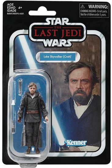 Star Wars The Last Jedi Vintage Collection Wave 21 Luke Skywalker Action Figure [Crait]