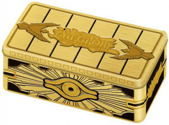 YuGiOh Trading Card Game 2019 Gold Sarcophagus Tin Set [3 Booster MEGA Packs]