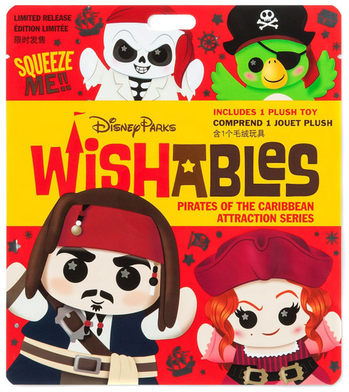 Disney Wishables Pirates of the Caribbean Attraction Exclusive 5-Inch Micro Plush Mystery Pack [1 RANDOM Figure]