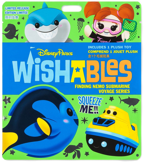 Disney Wishables Finding Nemo Submarine Voyage Exclusive 5-Inch Micro Plush Mystery Pack