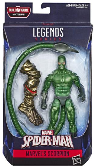 Spider-Man Marvel Legends Molten Man Marvel's Scorpion Action Figure