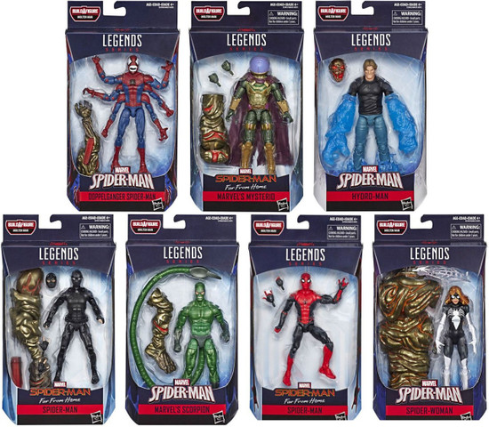 Spider-Man Marvel Legends Molten Man Set of 7 Action Figures