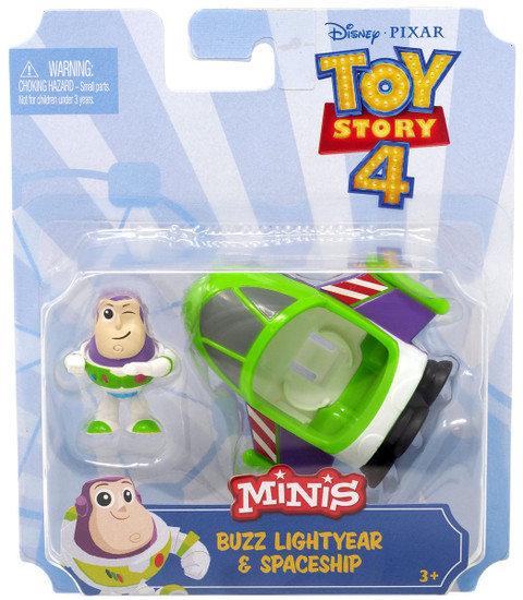 Disney / Pixar Toy Story 4 MINIS Buzz Lightyear & Spaceship Mini Figure & Vehicle