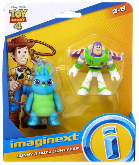 Fisher Price Disney / Pixar Imaginext Toy Story 4 Bunny & Buzz Lightyear Figure Set
