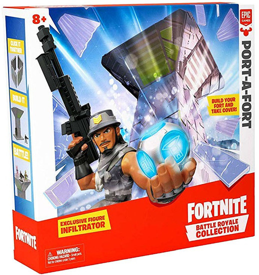 Fortnite Epic Games Battle Royale Collection Port-a-Fort 2-Inch Playset [Exclusive Infiltrator Figure!]