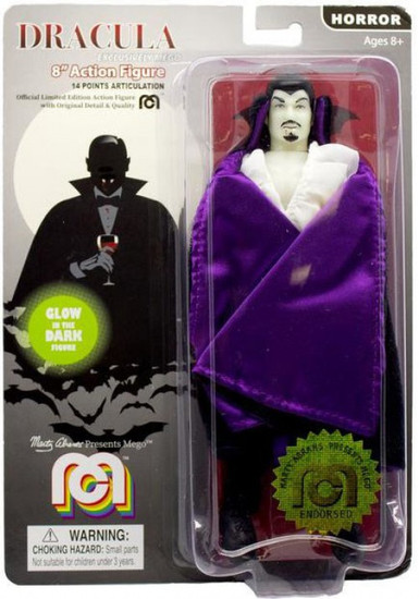 Horror Dracula Action Figure [Purple Lined Cape, Glow in the Dark]