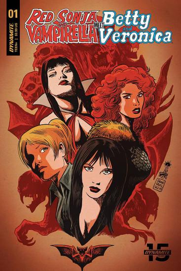 Dynamite Entertainment Red Sonja & Vampirella Meet Betty & Veronica #1 Comic Book [Francesco Francavilla Cover B]