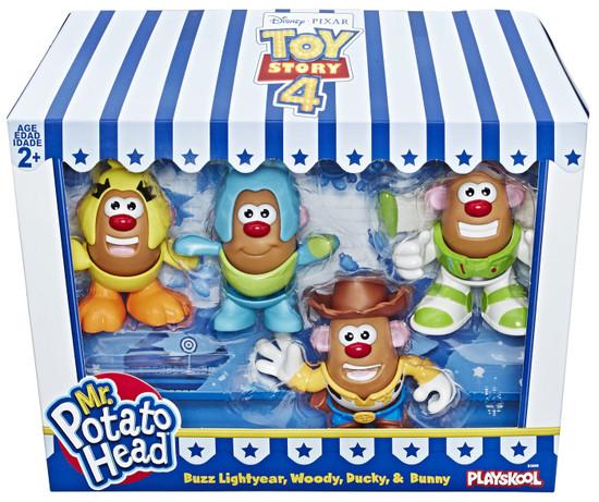 Toy Story 4 Mr. Potato Head Buzz Lightyear, Woody, Ducky & Bunny Figure 4-Pack