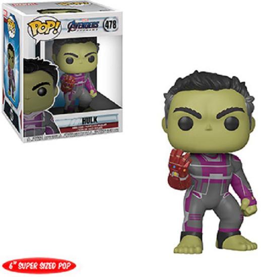 Funko Marvel Avengers Endgame POP! Movies Hulk 6-Inch Vinyl Figure #478 [Super-Sized]