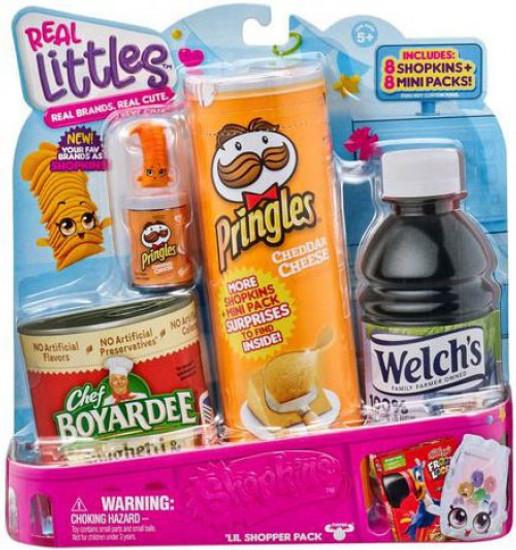 Shopkins Real Littles Season 12 Shopper 8-Pack [8 Shopkins & 8 Mini Packs, RANDOM Figures!]