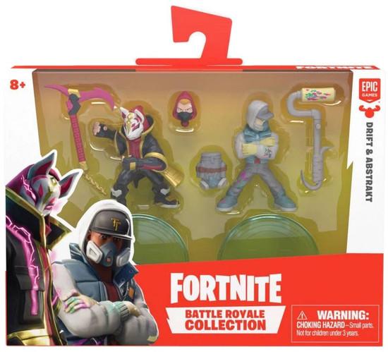 Fortnite Epic Games Battle Royale Collection Drift & Abstrakt 2-Inch Mini Figure 2-Pack