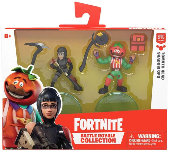 Fortnite Epic Games Battle Royale Collection Tomato Head & Shadow OPS 2-Inch Mini Figure 2-Pack