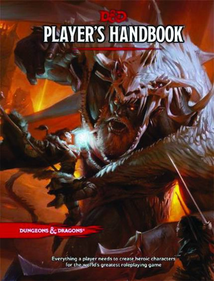 Dungeons & Dragons 5th Edition Player's Handbook Hardcover Roleplaying Core Rulebook
