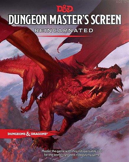 Dungeons & Dragons 5th Edition Dungeon Master's Screen Reincarnated Roleplaying Accessory