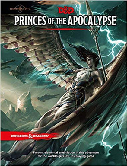 Dungeons & Dragons 5th Edition Princes of the Apocalypse Hardcover Roleplaying Book