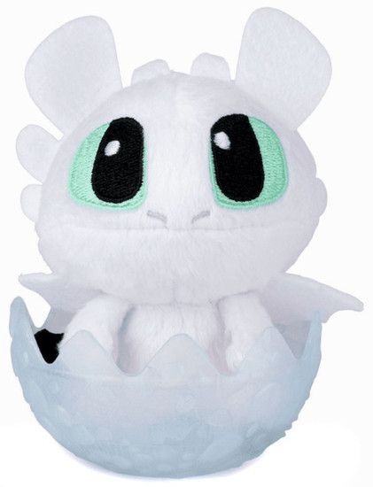 How to Train Your Dragon The Hidden World Light Fury 3-Inch Egg Plush [White]