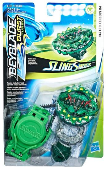 Beyblade Burst Turbo Slingshock Hazard Kerbeus K4 Starter Pack