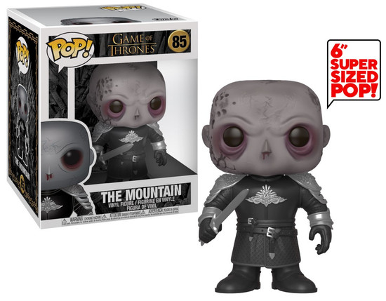 Funko Game of Thrones POP! TV The Mountain 6-Inch Vinyl Figure [Unmasked, Super-Sized]