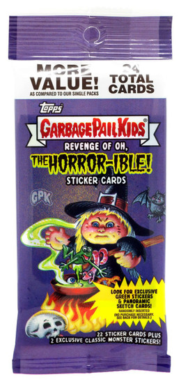 Garbage Pail Kids Topps 2019 Revenge of the Oh, The Horror-ible Trading Card Sticker VALUE Pack [24 Cards]