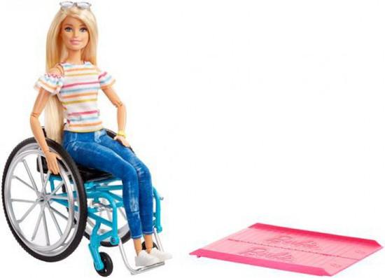 Fashionistas Barbie 13.25-Inch Doll #132 [Wheelchair & Ramp, Blonde]
