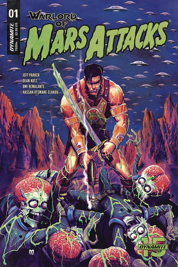 Dynamite Entertainment Warlord Of Mars Attacks #1 Comic Book [Marco D'Alfonso Variant Cover]