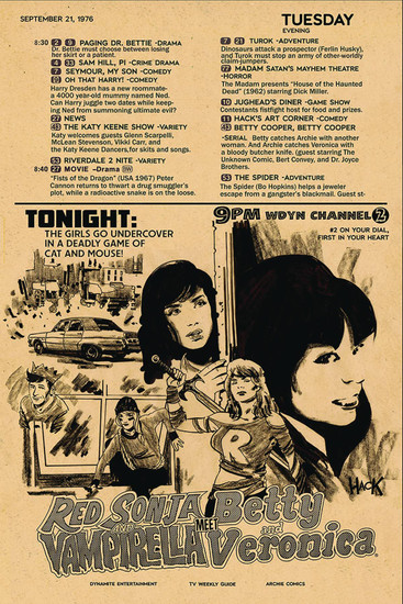 Dynamite Entertainment Red Sonja & Vampirella Meet Betty & Veronica #2 Comic Book [Robert Hack Variant Cover]