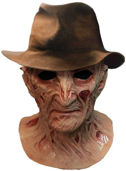 A Nightmare on Elm Street 4: The Dream Master Freddy Krueger Deluxe Mask Prop Replica [Includes Fedora Hat]