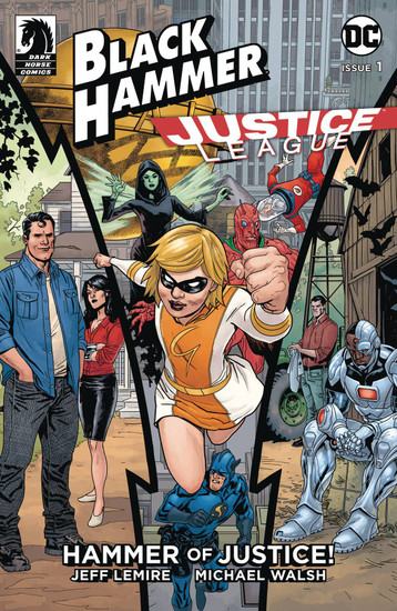 Dark Horse / DC Comics Black Hammer Justice League #1 of 5 Hammer of Justice Comic Book [Andrea Sorrentino, Dave Stewart Variant Cover]