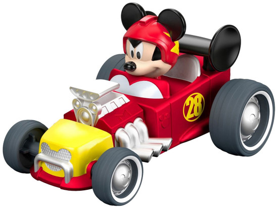 Fisher Price Disney Mickey & Roadster Racers Pull N' Go Hot Rod Vehicle