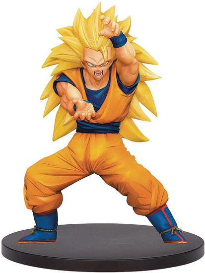 Dragon Ball Z: Buyu Retsuden Chosenshiretsuden Super Saiyan 3 Goku 6.3-Inch Collectible PVC Figure Vol. 4