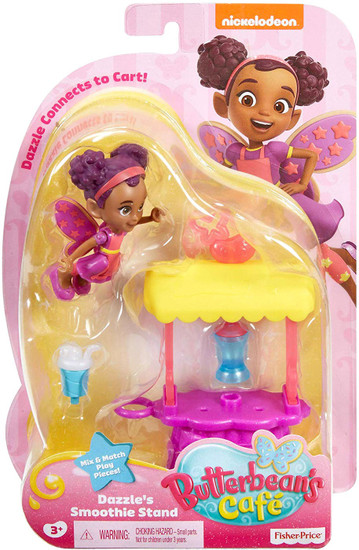 Fisher Price Butterbean's Cafe Dazzle's Smoothie Stand Figure Set