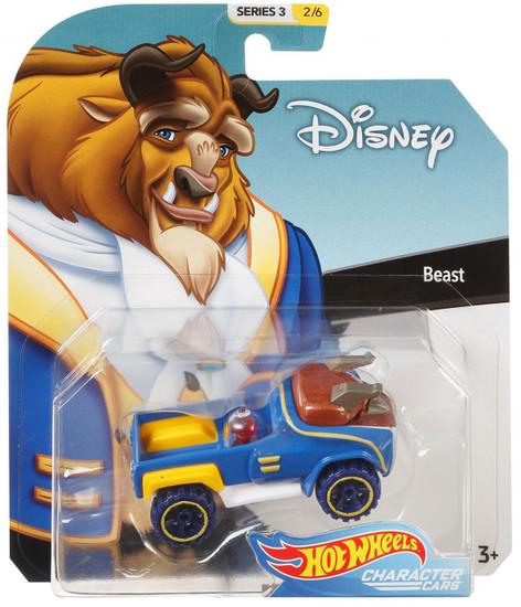 Disney Hot Wheels Character Cars Series 3 Beast Die Cast Car #2/6