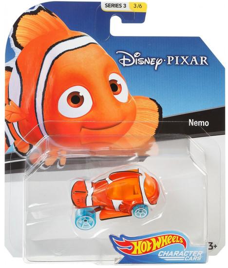 Disney Hot Wheels Character Cars Series 3 Nemo Die Cast Car #3/6