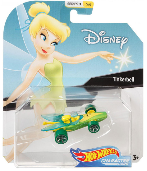 Disney Hot Wheels Character Cars Series 3 Tinkerbell Die Cast Car #5/6