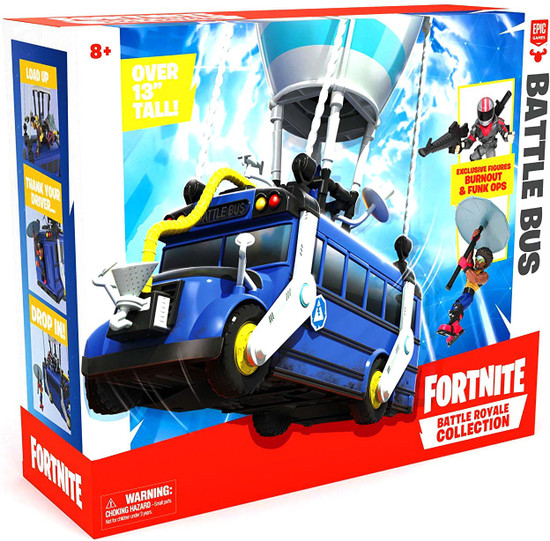 Fortnite Epic Games Battle Royale Collection Battle Bus 2-Inch Playset
