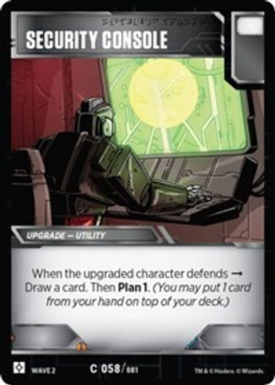 Transformers Trading Card Game Rise of the Combiners Common Security Console #058