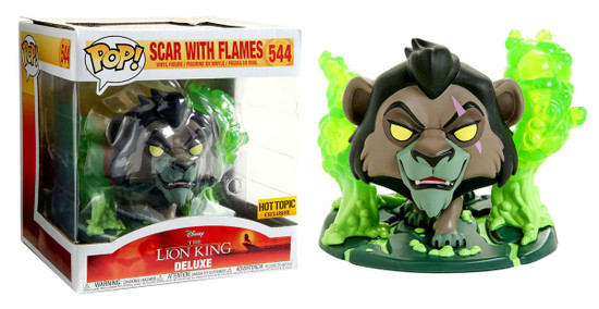 Funko The Lion King POP! Disney Scar with Flames Exclusive Vinyl Figure #544 [Green]